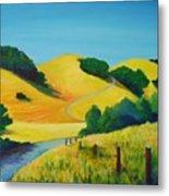 Clear Fall Day At Briones Metal Print