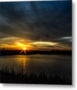 Clear Lake Sunset Metal Print