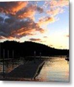 Clear Lake Sunset Metal Print