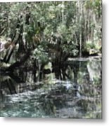 Clear Lithia Springs Metal Print