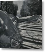 Clear Sunny And Cold Metal Print