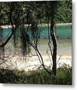 Clear Waters At The Beach Metal Print