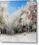 Clearing Skies Christmas Card Metal Print
