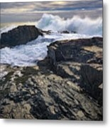 Clearing Storm At Bald Head Cliff Metal Print