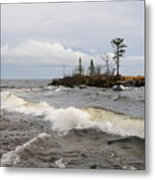 Clearing Storm Over Lake Superior Metal Print