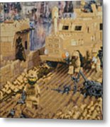 Clearing The Road- Kandahar Province Afghanistan Metal Print by Josh Bernstein