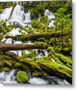 Clearwater Falls And Rapids Metal Print