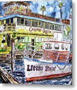Clearwater Florida Boat Painting Metal Print