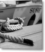 Cleat Hitch Boat Art Metal Print