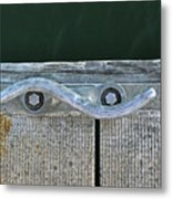 Cleat On A Dock Metal Print