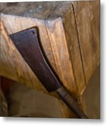 Cleaver Ready For Action Metal Print