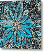 Clematis In Blue Fantasia Metal Print