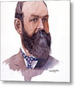 Clement Cornwall Portrait Metal Print