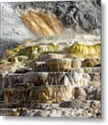 Cleopatra Terrace In Yellowstone National Park Metal Print