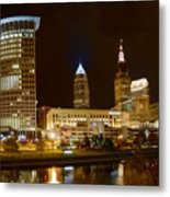 Cleveland At Night Metal Print
