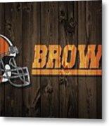 Cleveland Browns Barn Door Metal Print