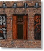 Cleveland Browns Brick Wall Metal Print