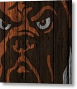 Cleveland Browns Wood Fence Metal Print