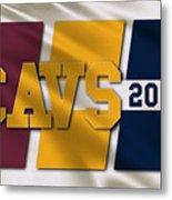 Cleveland Cavaliers Flag Metal Print