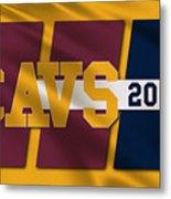 Cleveland Cavaliers Flag2 Metal Print
