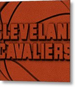 Cleveland Cavaliers Leather Art Metal Print