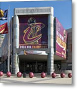 Cleveland Cavaliers The Q Metal Print