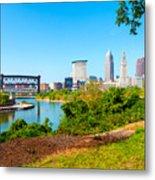 Cleveland Cityscape Metal Print