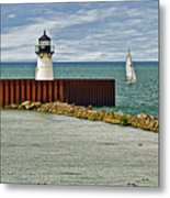Cleveland Harbor Small Lighthouse Metal Print