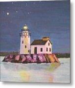 Cleveland Harbor West Pierhead Lighthouse Metal Print
