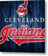 Cleveland Indians Barn Door Metal Print