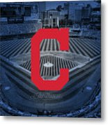 Cleveland Indians Baseball Metal Print