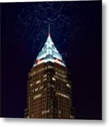 Cleveland Key Building With Electricity Metal Print