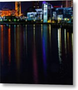 Cleveland Nightly Reflections Metal Print