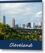 Cleveland Poster Metal Print