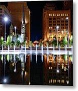 Cleveland Public Square Fountains Metal Print