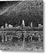 Cleveland Skyline Abstract 3 Metal Print
