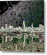 Cleveland Skyline Abstract 4 Metal Print