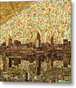 Cleveland Skyline Abstract 6 Metal Print