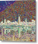 Cleveland Skyline Abstract 8 Metal Print