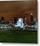 Cleveland Skyline At Night Metal Print