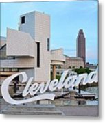 Cleveland Updated View Metal Print