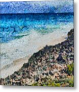Cliff And Water Metal Print