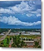 Cliff Avenue Storm Clouds Metal Print