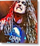 Cliff Burton Portrait Metal Print
