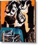 Cliff Master Bed 3 - Digital Version Metal Print