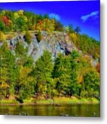 Cliff Of Color Metal Print