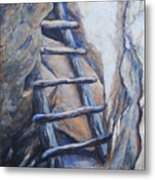 Cliff Palace Ladder Metal Print