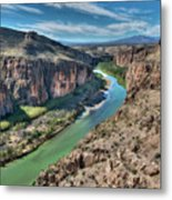 Cliff View Of Big Bend Texas National Park And Rio Grande  Metal Print