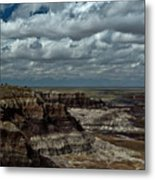 Cliffs And Clouds Metal Print