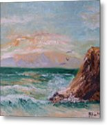 Cliffs And Waves Metal Print